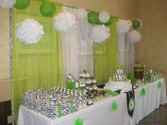 African Prince Zebra Print Baby Shower dessert table