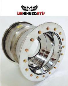 $149.95 Roll-Tech-12x8-Single-Beadlock-UTV-wheel-Polished-4-156-4-4-offset-Polaris-RZR