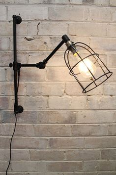 Cage Swing Arm Wall Light