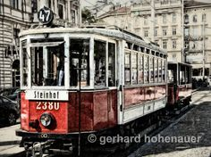 Old Vienna Tramway Photography-Digital-Work by gerhards on Etsy Austria, Digital, Photography, Etsy, Vintage, Vienna, Watercolor Illustration, Photograph, Fotografie