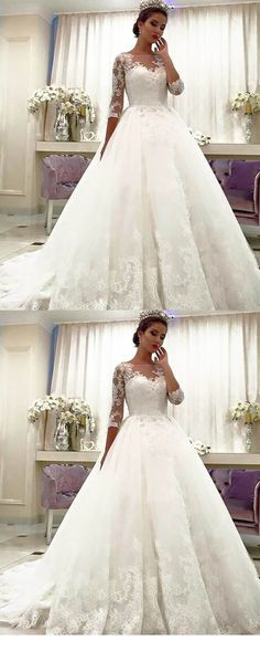 b48bb075b9519 #wedding Bridesmaid Dresses, Prom Dresses, Ivory Lace Wedding Dress, Bridal  Gowns,