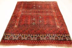 Maison d'enchères en ligne Catawiki: Beautiful hand-knotted Art Deco – Oriental rug – Measurements: 180 x 195 cm – Afghan Baluch – Around 1930 – Wool on wool