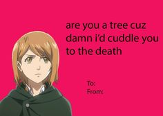 Five Attack On Titan Valentineu0027s Day Cards | Anime Valentines Day Card |  Pinterest | Valentine Day Cards, Attack On Titan And Valentines