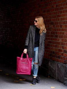 Uusi ihastukseni Aleksi | Lumi Accessories leather bag, Aleksi tote, purple - Pupulandia | Lily.fi