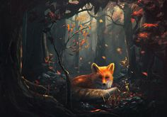 Foxes and Kitsune / (Speedpaint #47 by Sylar113.deviantart.com on @DeviantArt, copyrighted)