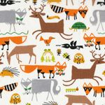 Forest Friends Ed Emberley fabric by Cloud 9 Fabrics