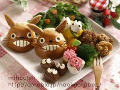 Totoro lunch, studio ghibli food