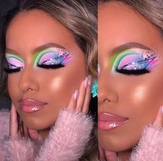 Makeup Inspo, Makeup Inspiration, Beauty Makeup, Makeup Ideas, Bold Eye Makeup, Creative Makeup Looks, Circus Makeup, Coachella Makeup, Cute Makeup Looks