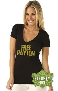 """If there's one thing I know, it's the passion of New Orleanians and the power of a t-shirt.  """"Free Payton"""" tee with """"distressed"""" print for a roughed up look. Printed on Next Level shirts for a roomier fit."""