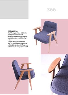 Designed by J. redesigned by Lekka Furniture Mid Century Furniture, Poland, Accent Chairs, Furniture Design, Sofa, Architecture, Home Decor, Upholstered Chairs, Arquitetura