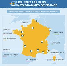 Les lieux les plus instagrammés de France #Instagram #tourisme #socialmedia