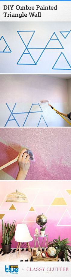 Learn how to bring fun, beautiful, creativity to your space with a brightly colored ombre accent wall!