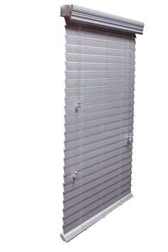 "Luxr Blinds Custom-Made Embossed Faux Wood 2"" Slats Venetian Blinds: Easy-Mount Horizontal Window Treatment with Valence- 32""x48"" Length, White"