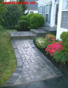 Full Service Landscape Maintenance: Lawn Care, Fertilizing, Snow Removal New Jersey - Our Latest Project Front Path, Front Walkway, Front Stairs, Brick Walkway, Front House Landscaping, Landscaping Retaining Walls, Driveway Landscaping, Paver Sidewalk, Concrete Path