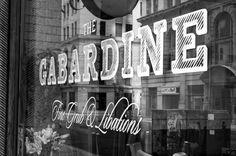 Window Typography, signage on shop window, window decals, branding, typography