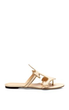 Shop Atlantic Leather Sandals by Charlotte Olympia Now Available on Moda Operandi