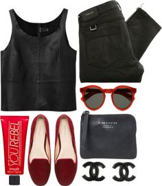 """classy in red"" by rosiee22 ❤ liked on Polyvore"