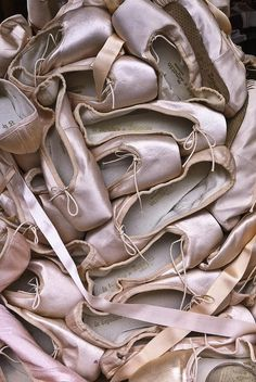 Did you know that pro ballerinas get a new pair of pointe shoes per a…