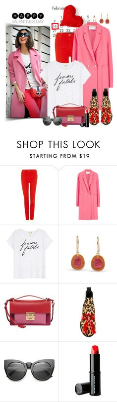 """""""Happy Valentine's Day, coming soon! Don't forget!!😍😘.."""" by fashionlibra84 ❤ liked on Polyvore featuring Lee, Harris Wharf London, Sundry, Salvatore Ferragamo, House of Holland and Beauty Is Life"""