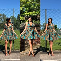 Same dress worn in different ways. The ways to style this dress is just endless. You have everything to win and nothing to lose in the… African Print Skirt, African Print Clothing, African Print Dresses, Wax Jackets, Kitenge, Dashiki, Traditional Outfits, Summer Dresses, How To Wear