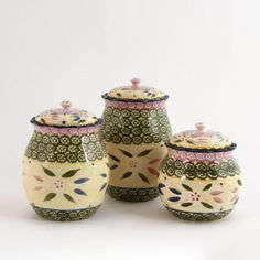 temp-tations® by Tara: temp-tations® Old World 3-pc. Fluted Canister Set... I Love This Stuff....  I want Temp-Tations all over my kitchen