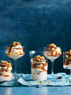 Individual Ginger And Caramel Trifles With Almond Praline | Donna Hay (cooking cake photography)