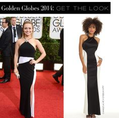Hayden Panettiere at the Golden Globes 2014 and the Camille La Vie dress version for less