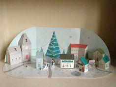 Build a town advent calendar. Day 17