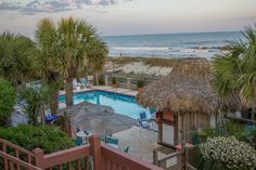 The oceanfront pool at The Winds Resort in Ocean Isle Beach, NC #TheWinds