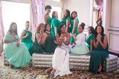 "Alpha Kappa Alpha Bridal Party  A ""Diamond Themed"" Blush and Platinum Wedding in New York - Munaluchi Bridal Magazine"