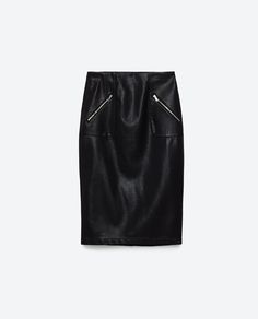 Image 8 of FAUX LEATHER PENCIL SKIRT from Zara