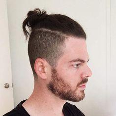 Man Bun Undercut Haircut A Good Man, The Man, Man Bun Undercut, Man Bun Hairstyles, Deep Set Eyes, Comb Over, Haircuts For Men, Brows, Hair Cuts