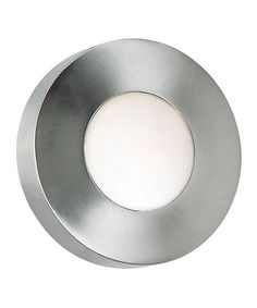 lean modern light for the stoop! Another great find on #zulily! Burst Large Round Sconce #zulilyfinds