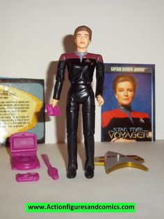 Star Trek CAPTAIN KATHRYN JANEWAY voyager 1995 playmates complete action figures