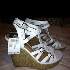 My new wedges from Rue 21. In love with them!!:)