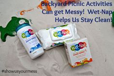 Backyard Picnic Activities with Wet-Nap® #ShowUsYourMess #PMedia #ad