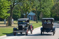 Model A Ford Pickup and Model T at Greenfield Village in Dearborn, MI