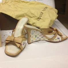 Louis Vuitton strapless heels Used shoe as you can see in the 2nd pic there is some wear in heel but still a lot of life left in these shoes great for casual weekend look Louis Vuitton Shoes Heels