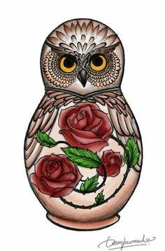 Owl art by Dea Javasche