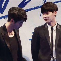 Bromance - seo in guk and lee jong suk Lee Jong Suk Cute, Lee Jung Suk, Asian Actors, Korean Actors, W Korean Drama, Dramas, Young Male Model, Seo In Guk, Cute Celebrities