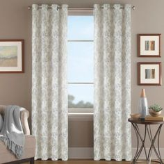 Magnolia Morocco Grommet Top Window Curtain Panel   BedBathandBeyond.com