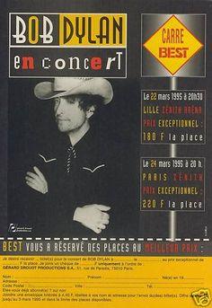 16- 03 22 1995 - Bob Dylan Concert Poster