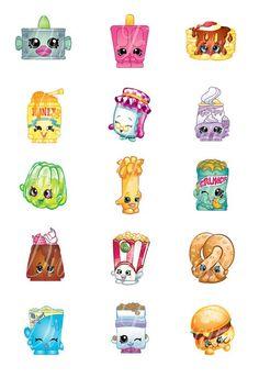 Bottle Cap Images 1 Inch 4 X 6 Shopkins Food by ADivasBowtique: