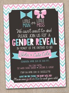 Ink Obsession Designs: Gender Reveal Party Printable Invitations & More