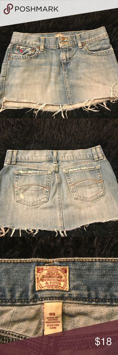 Abercrombie & Fitch Denim Skirt Pre Owned Abercrombie & Fitch Denim Skirt Abercrombie & Fitch Skirts Mini