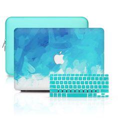 MacBook Case Set – 360 Blue Splash – Mohammad Rakhshanizade – Join the world of pin Macbook Desktop, Macbook Stickers, Macbook Decal, Macbook Air, Mac Stickers, Macbook Pro Tips, Macbook Pro 13 Case, Apple Laptop, Apple Macbook Pro
