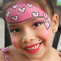 cute girl pirate  Face Painting .. schminken ..