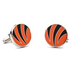Cincinnati Bengals Cuff Links, Men's, Orange