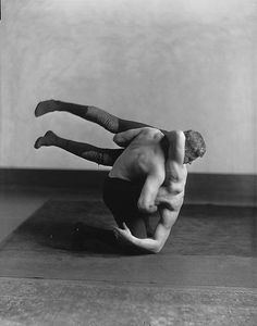 Wrestlers, McGill boxing, wrestling and fencing club, Montreal, 1925 by Musée McCord Museum on Flickr.