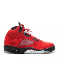 8b9ba59de63e5b Air Jordan 5 Retro Raging Bull Red Suede Varsity Red Black 136027 601 Jordan  Store